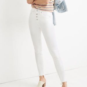 "Madewell 10"" High-Rise Skinny Jeans: Step Hem"